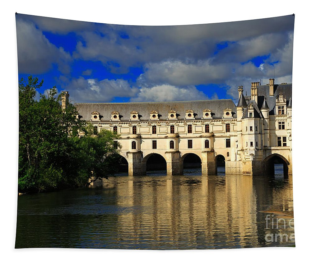 Chateau Tapestry featuring the photograph Chateau Chenonceau by Louise Heusinkveld