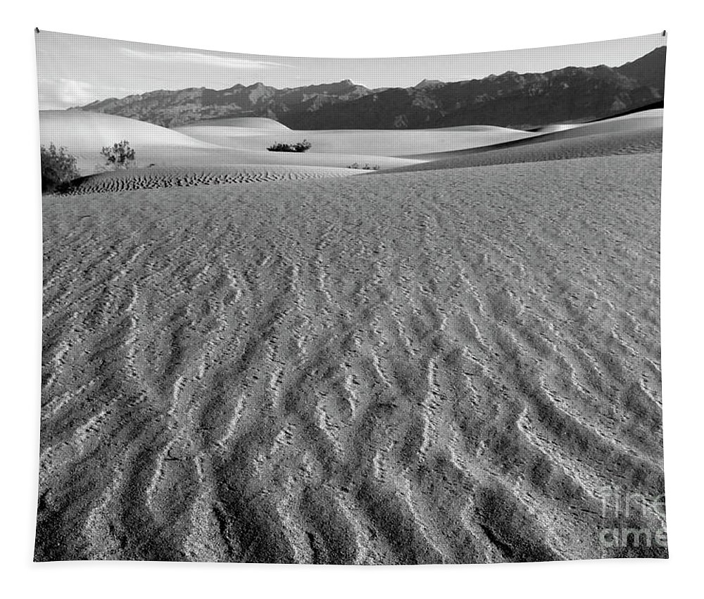 Death Valley Tapestry featuring the photograph Mesquite Dunes 15 by Bob Christopher