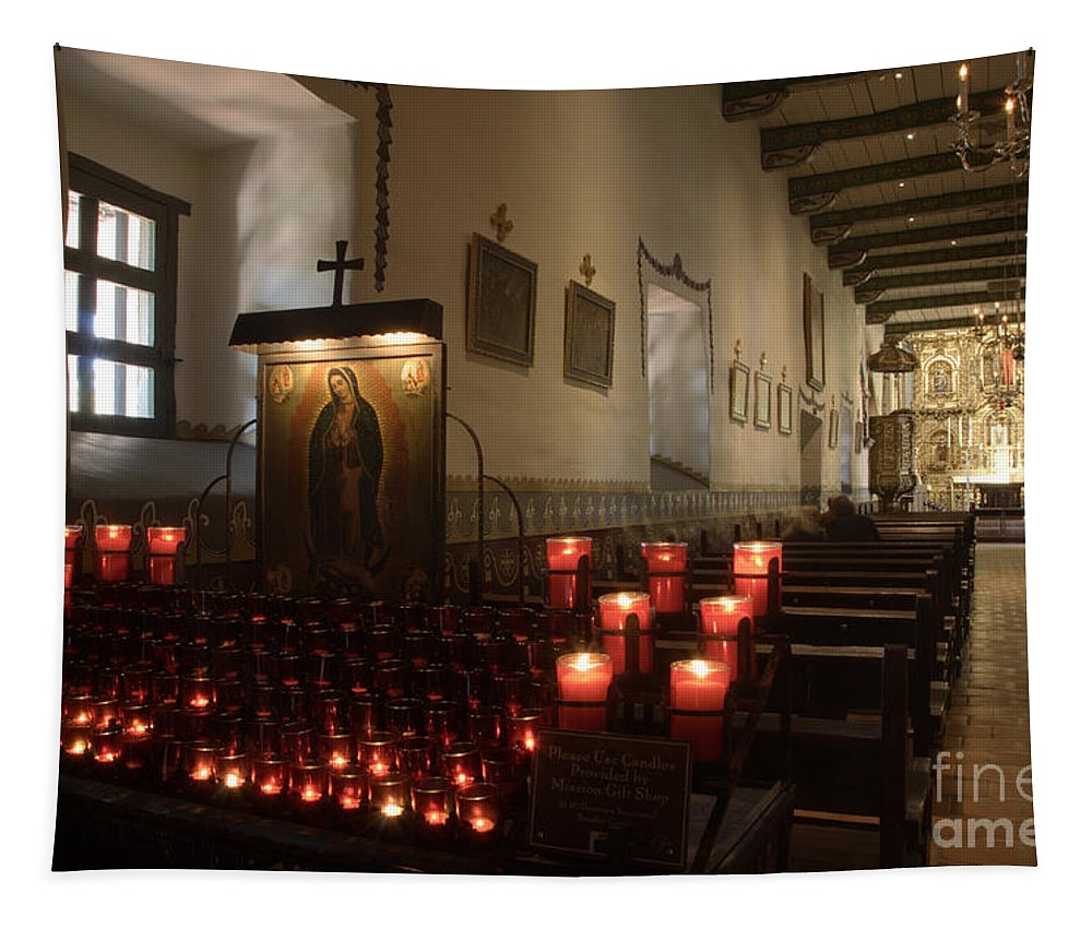 San Carlos Borromeo De Carmelo Mission Tapestry featuring the photograph Mission San Juan Capistrano by Bob Christopher