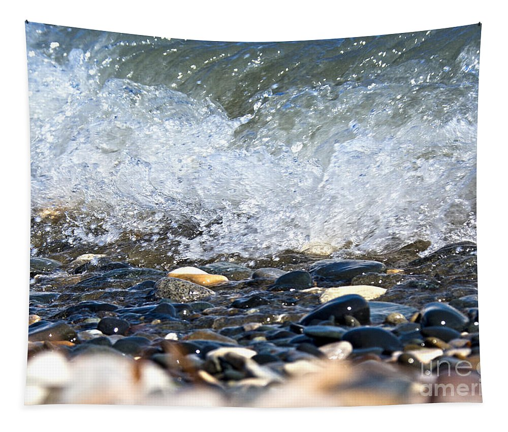 Ocean Stones Tapestry featuring the photograph Ocean Stones by Stelios Kleanthous