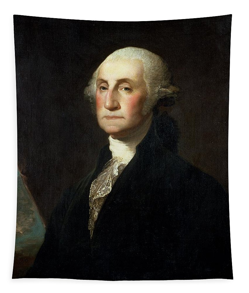 Portrait Tapestry featuring the painting Portrait Of George Washington by Gilbert Stuart