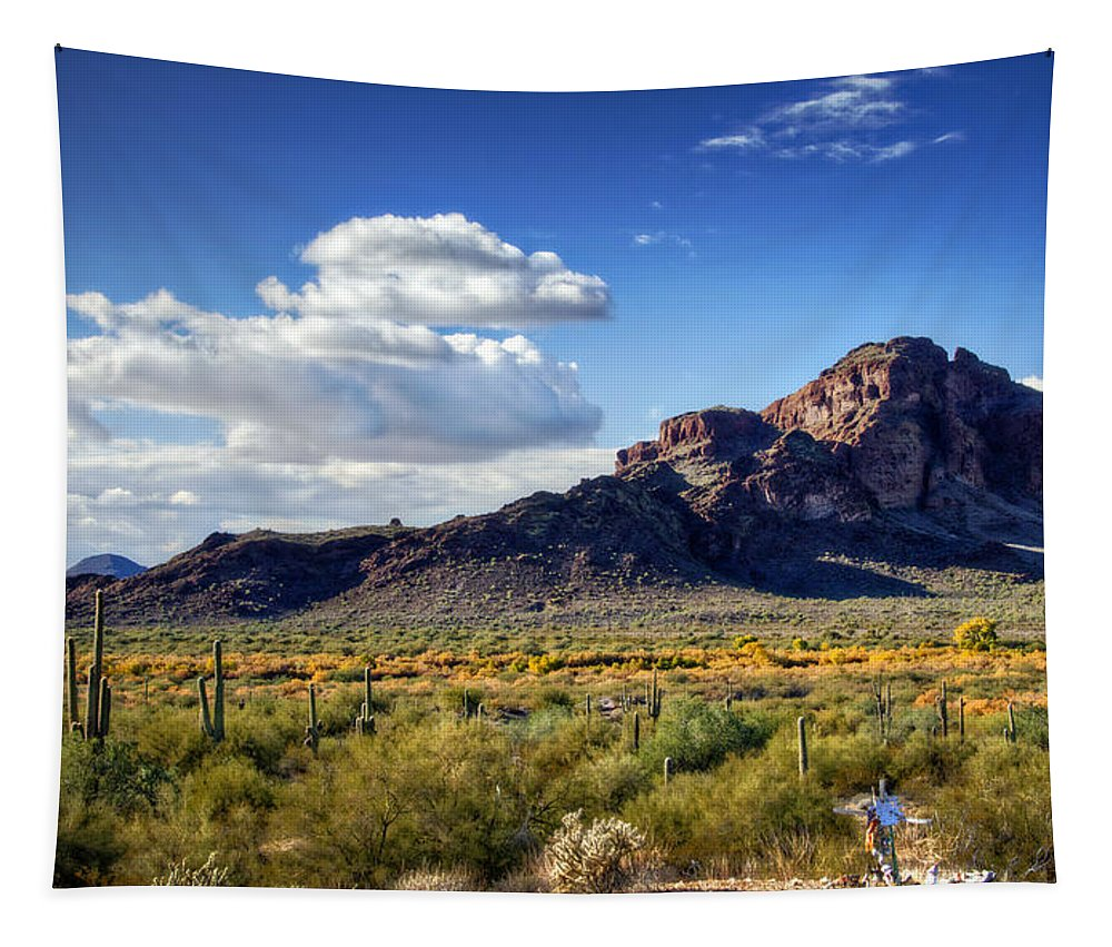 Red Mountain Tapestry featuring the photograph Red Mountain by Saija Lehtonen