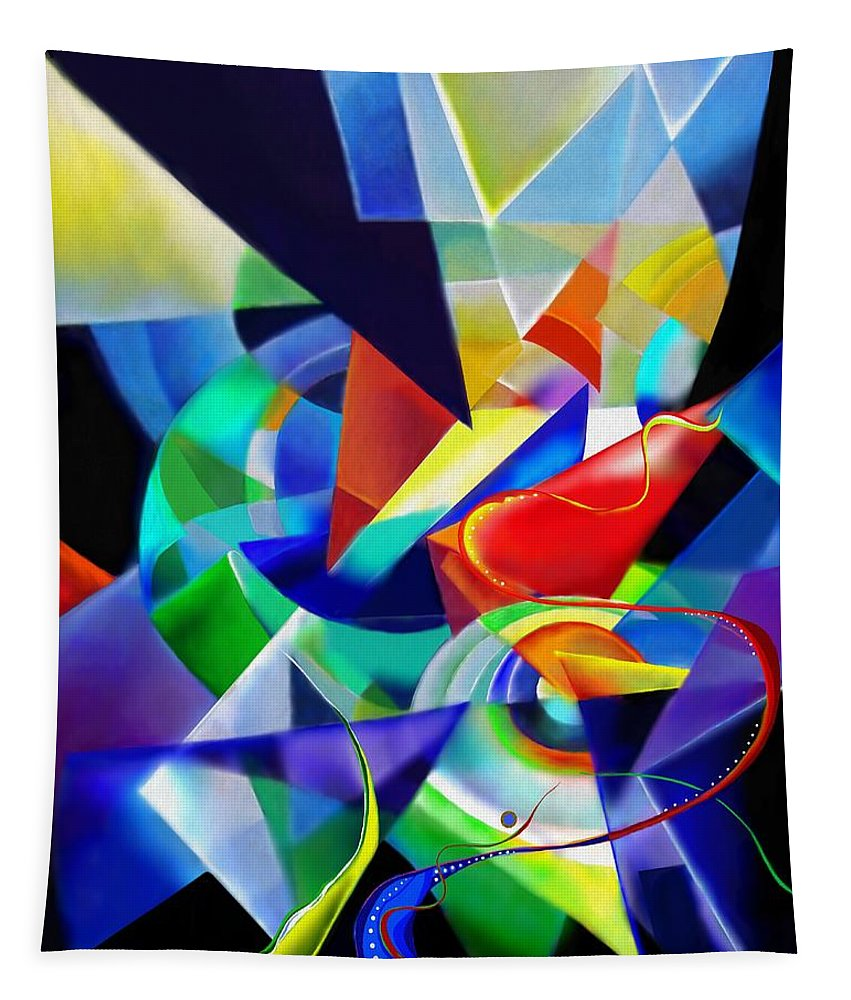 Digital Painting Tapestry featuring the painting Spring by Wolfgang Schweizer