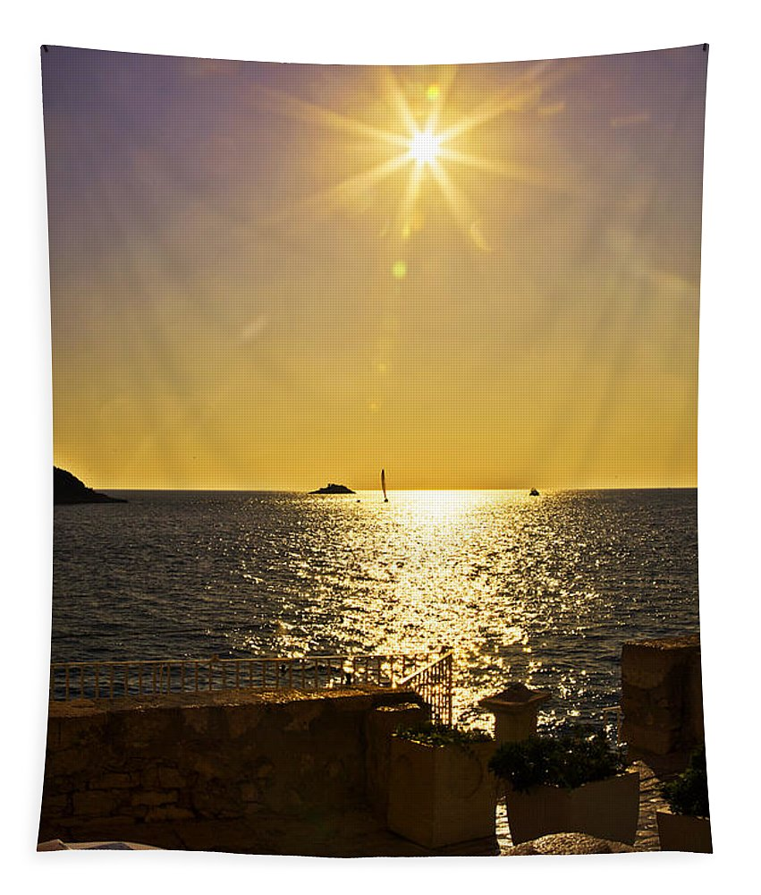 Terrace View Tapestry featuring the photograph Starburst Memories by Madeline Ellis