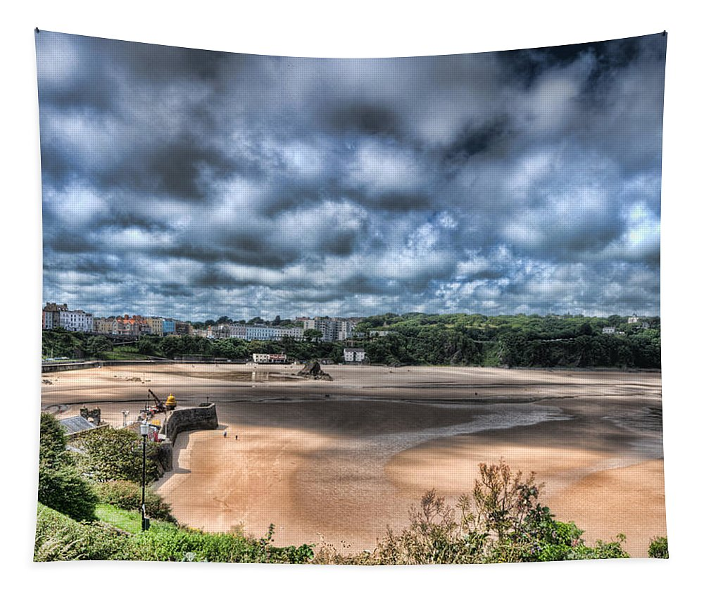Tenby Harbour Tapestry featuring the photograph Tenby Pembrokeshire by Steve Purnell