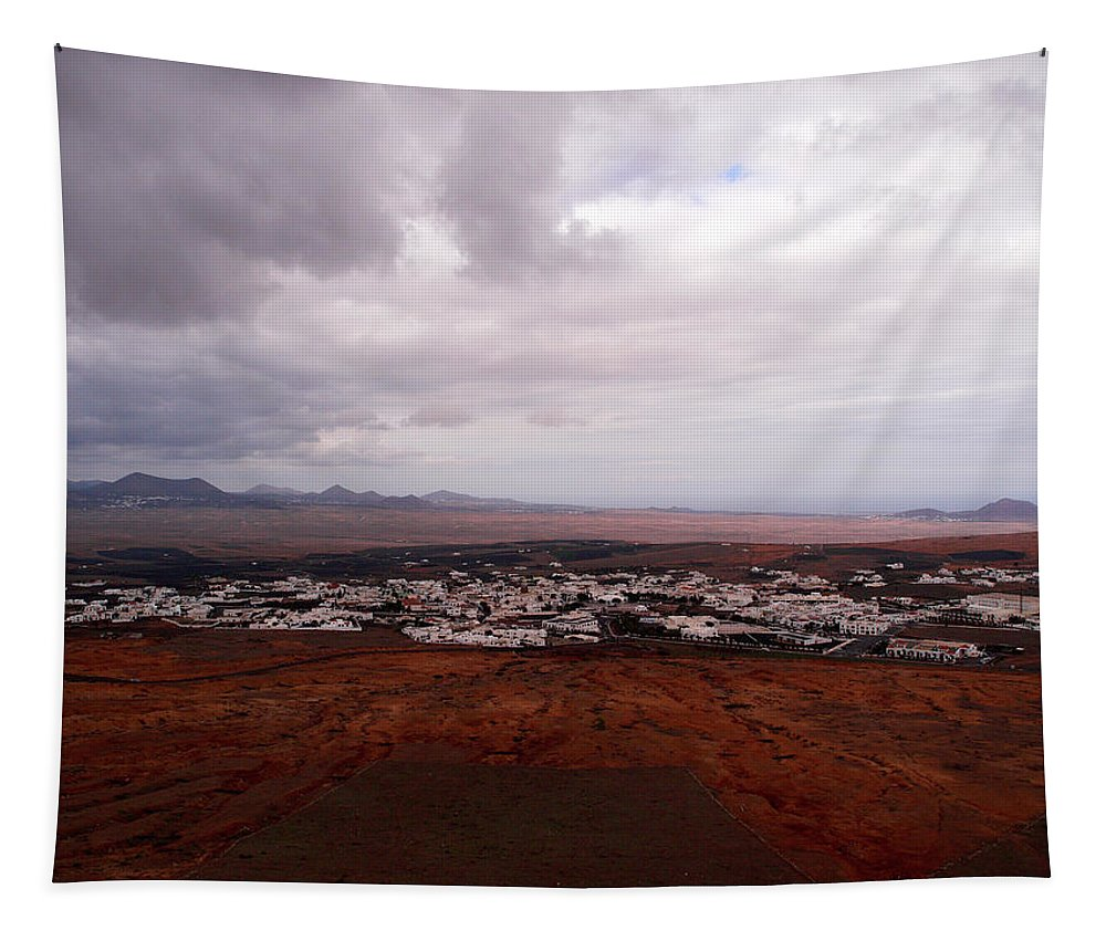 Canary Islands Tapestry featuring the photograph Tequise From Guanapay Castle by Jouko Lehto