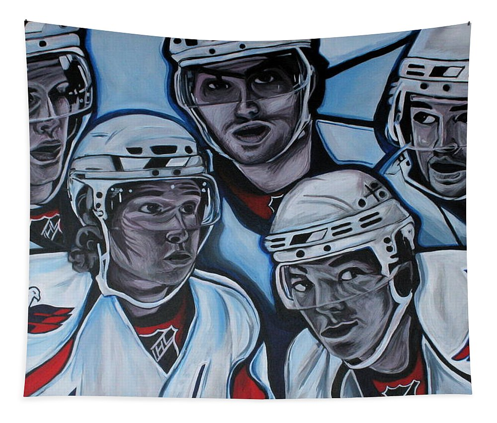 Washington Capitals Tapestry featuring the painting The Capitals by Kate Fortin