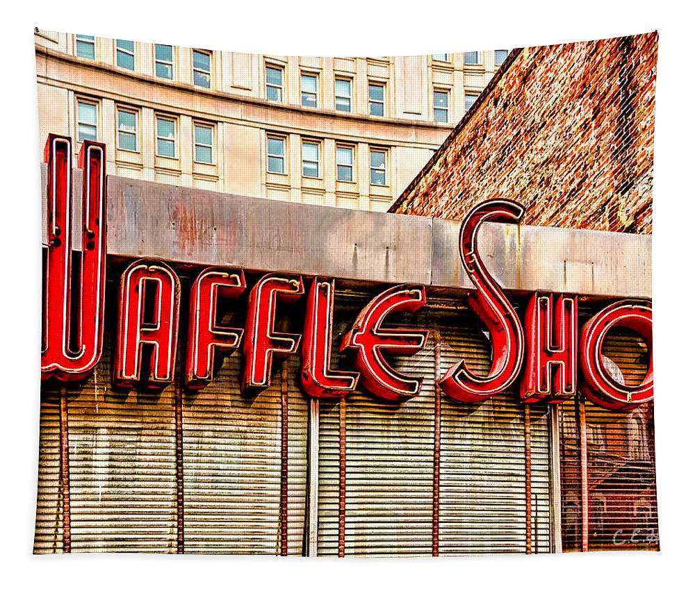Shop Tapestry featuring the photograph Waffle Shop by Christopher Holmes