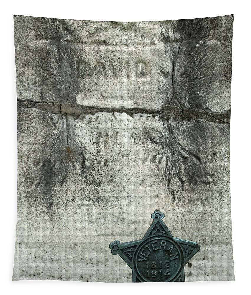 Cemetery Tapestry featuring the photograph War Of 1812 Veteran by Paul W Faust - Impressions of Light