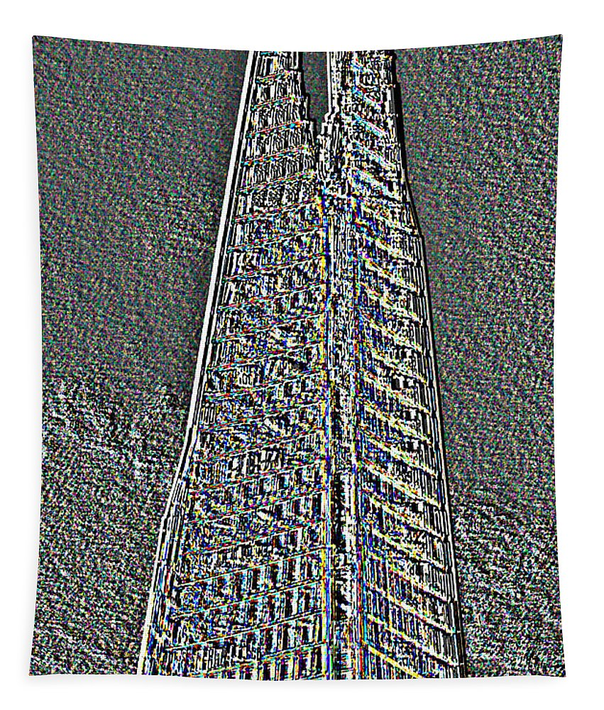 Shard Tapestry featuring the digital art The Shard by David Pyatt