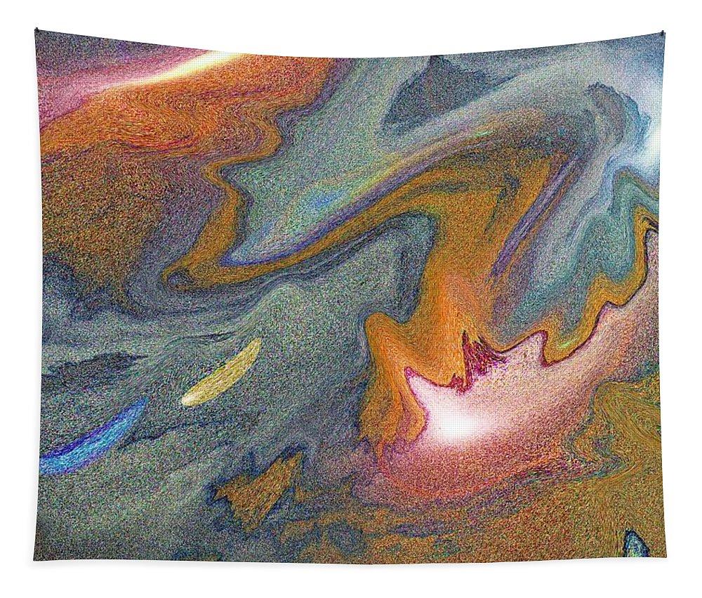 Art Tapestry featuring the digital art Abstract Pattern Art by David Pyatt