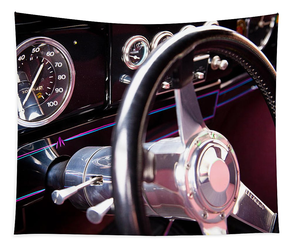 37 Tapestry featuring the photograph 1937 Packard Custom by David Patterson