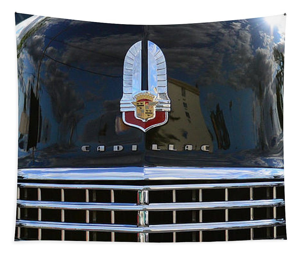 1941 Cadillac Tapestry featuring the photograph 1941 Cadillac Grill by Paul Ward
