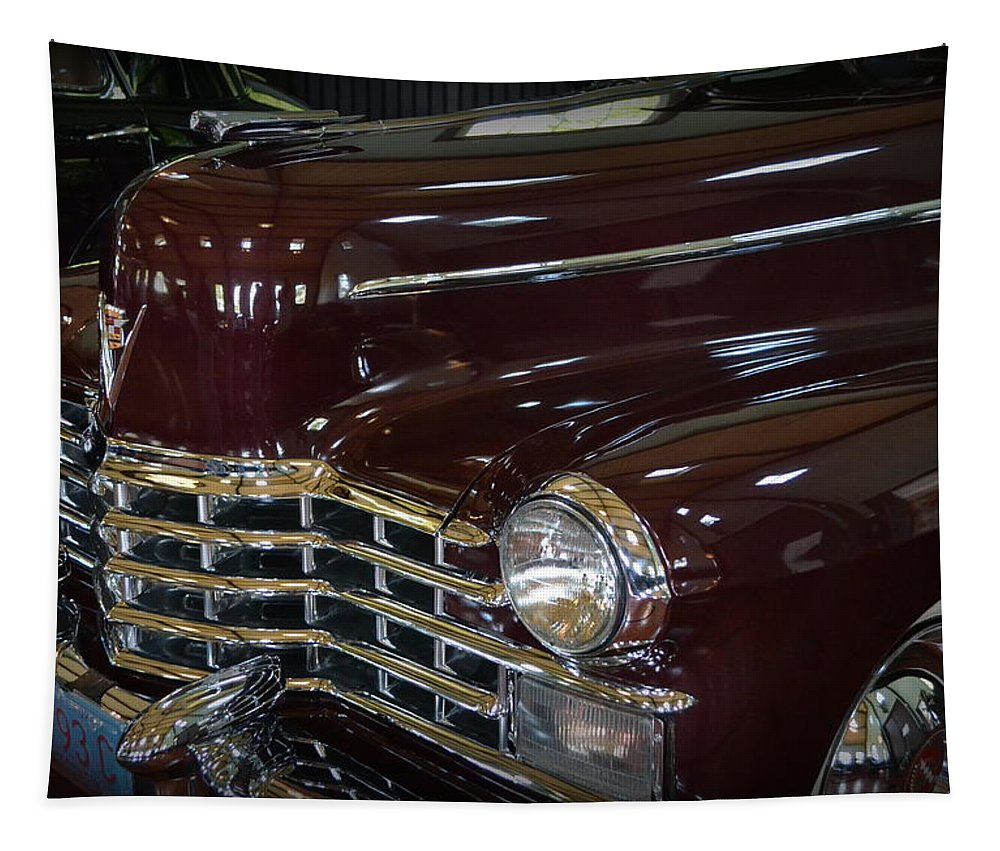 Motor Tapestry featuring the photograph 1948 Cadillac - Series 75 Limousine by Michelle Calkins