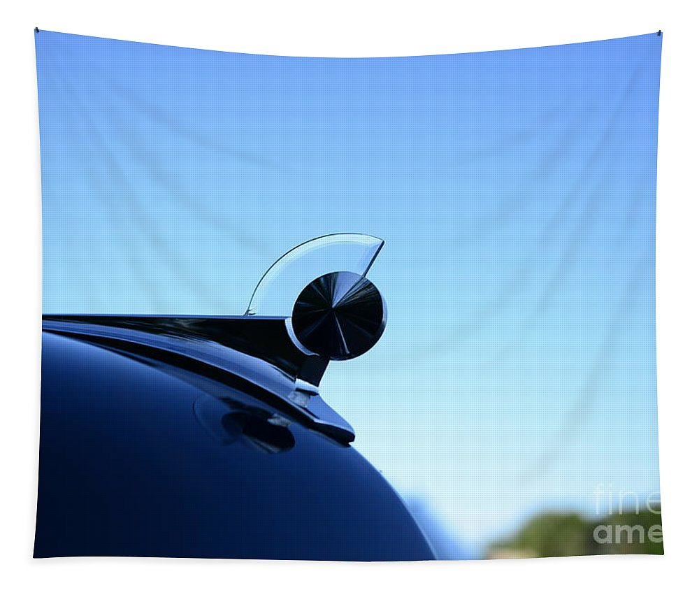 1949 Ford Hood Ornament Tapestry featuring the photograph 1949 Ford Hood Ornament by Paul Ward