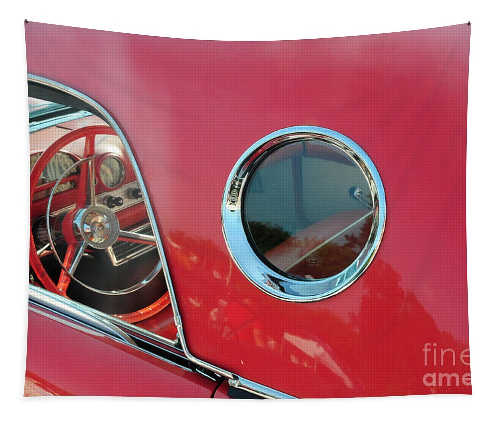 1957 Ford Thunderbird Tapestry featuring the photograph 1957 Ford Thunderbird by Paul Ward