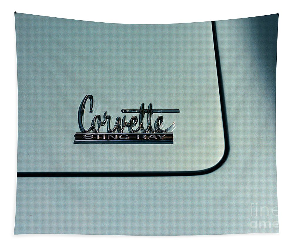 1966 Corvette Sting Ray Tapestry featuring the photograph 1966 Corvette Sting Ray by Paul Ward