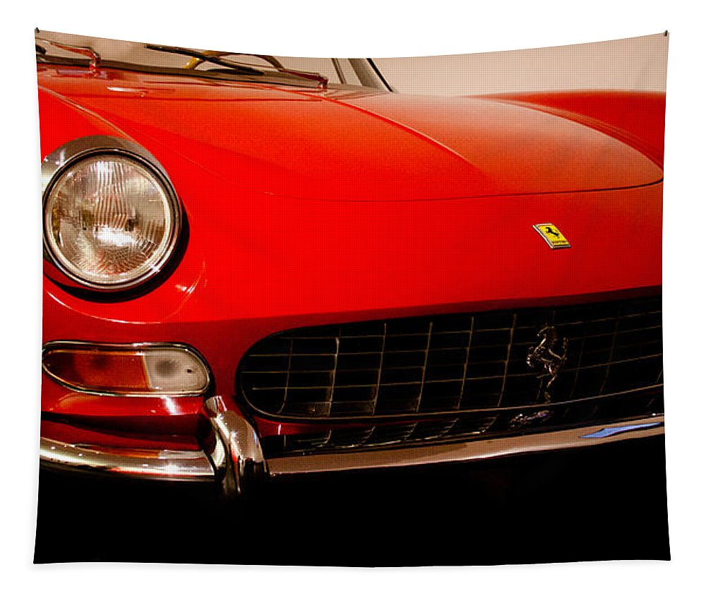 66 Tapestry featuring the photograph 1966 Ferrari 275 Gts by David Patterson