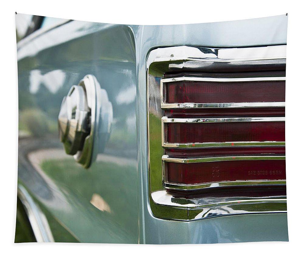 1966 Plymouth Satellite Tail Light Tapestry featuring the photograph 1966 Plymouth Satellite Tail Light by Glenn Gordon