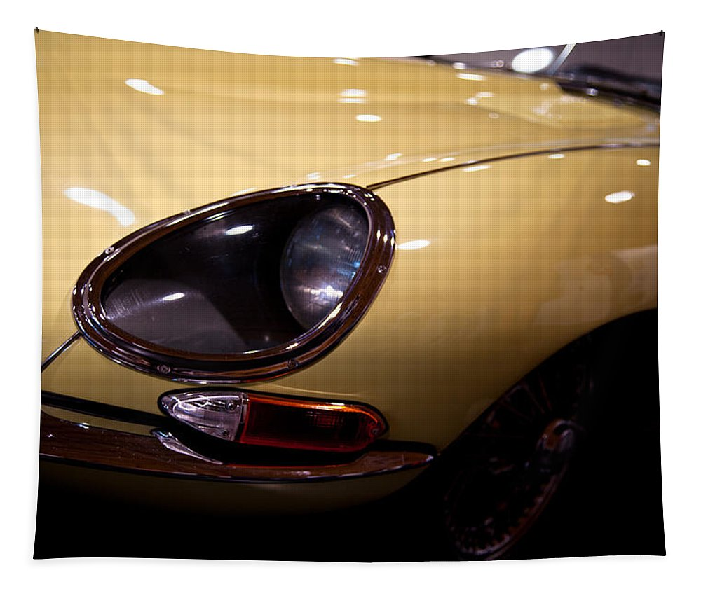 67 Tapestry featuring the photograph 1967 Jaguar E-type Series by David Patterson