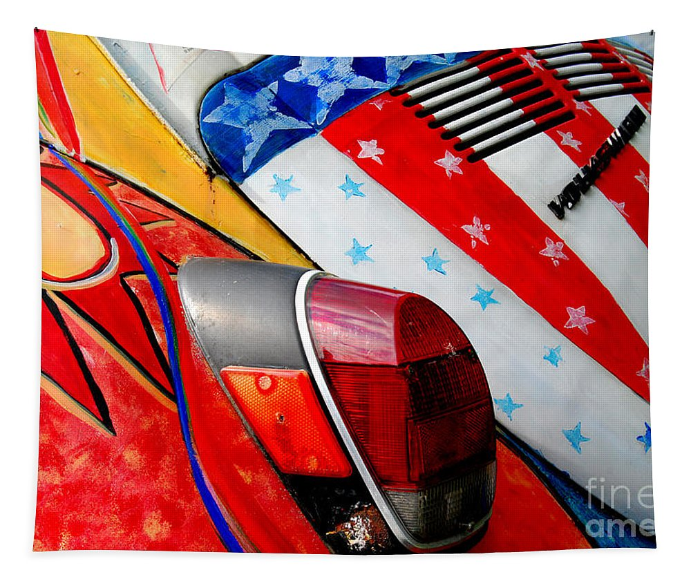 Head Shop Tapestry featuring the photograph 1972 Super Beetle by Guy Harnett