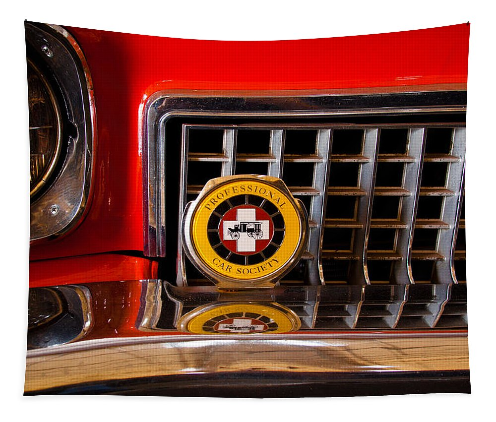 73 Tapestry featuring the photograph 1973 Oldsmobile Ambulance by David Patterson