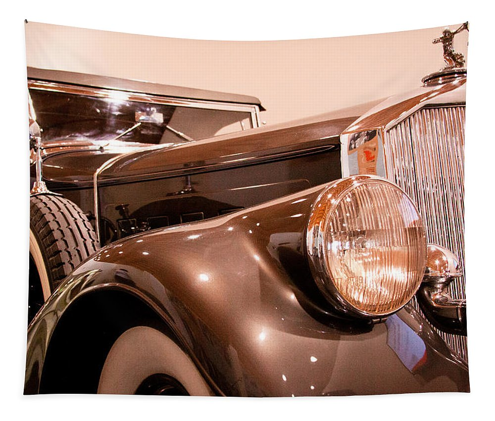 33 Tapestry featuring the photograph 1933 Pierce-arrow 12 Model 12412 Labaron Convertible Coupe by David Patterson