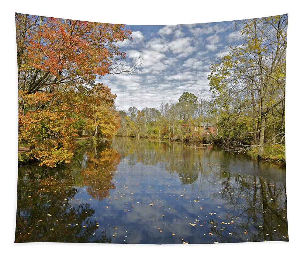 Autumn Tapestry featuring the photograph Autumn Colors On The Delaware And Raritan Canal by David Letts