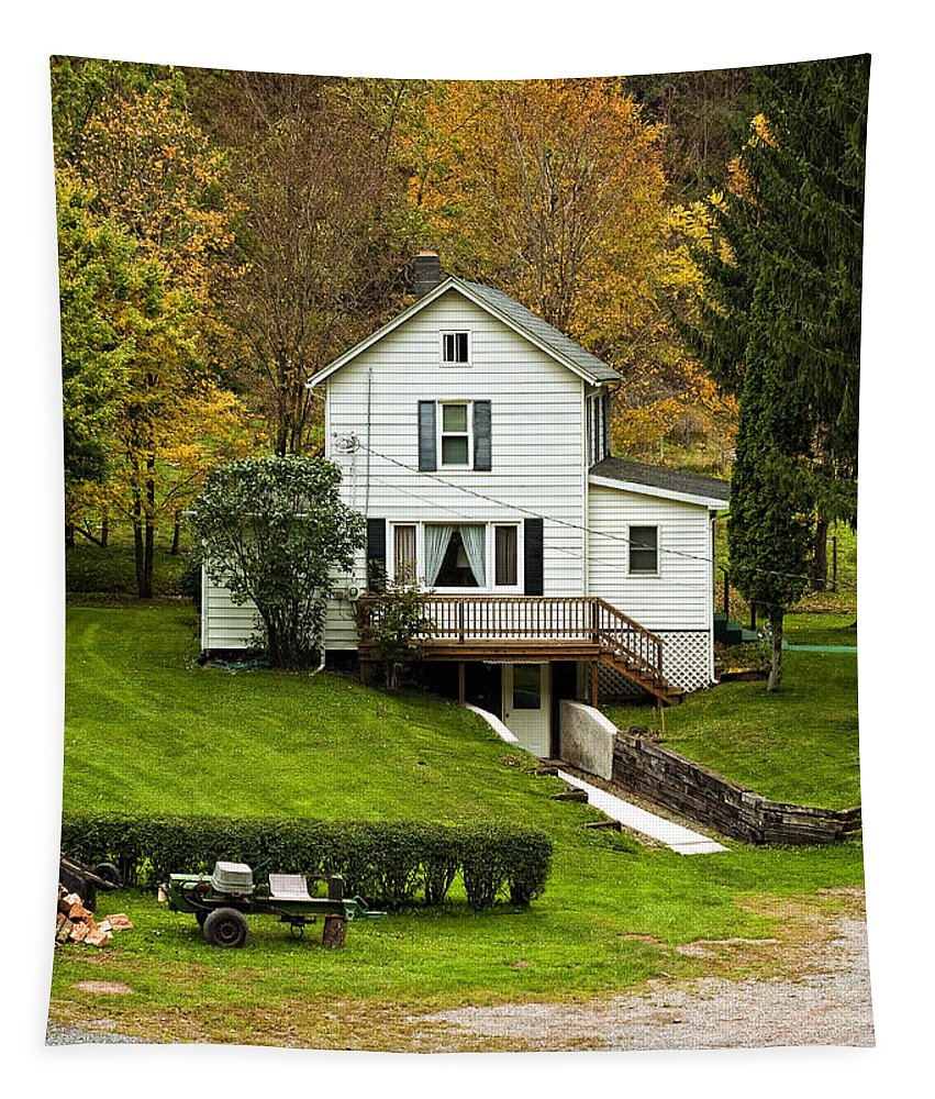 West Virginia Tapestry featuring the photograph Country Living by Steve Harrington
