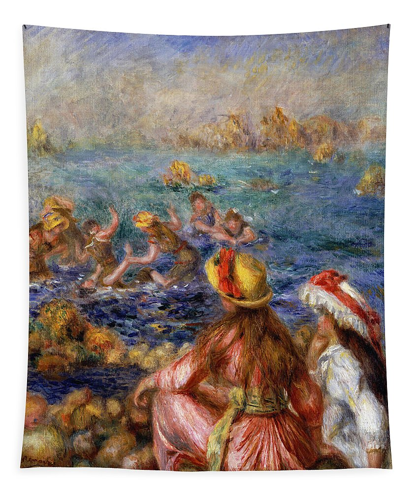 Impressionism Tapestry featuring the painting The Bathers by Pierre Auguste Renoir