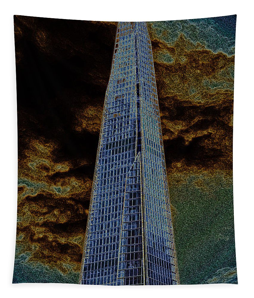Shard Tapestry featuring the digital art The Shard London by David Pyatt