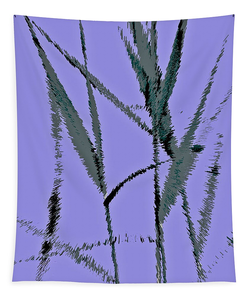 Monet Tapestry featuring the digital art Water Reed Digital Art by David Pyatt