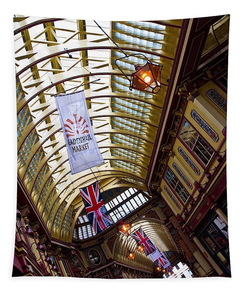 Leadenhall Market Tapestry featuring the photograph Leadenhall Market London by David Pyatt