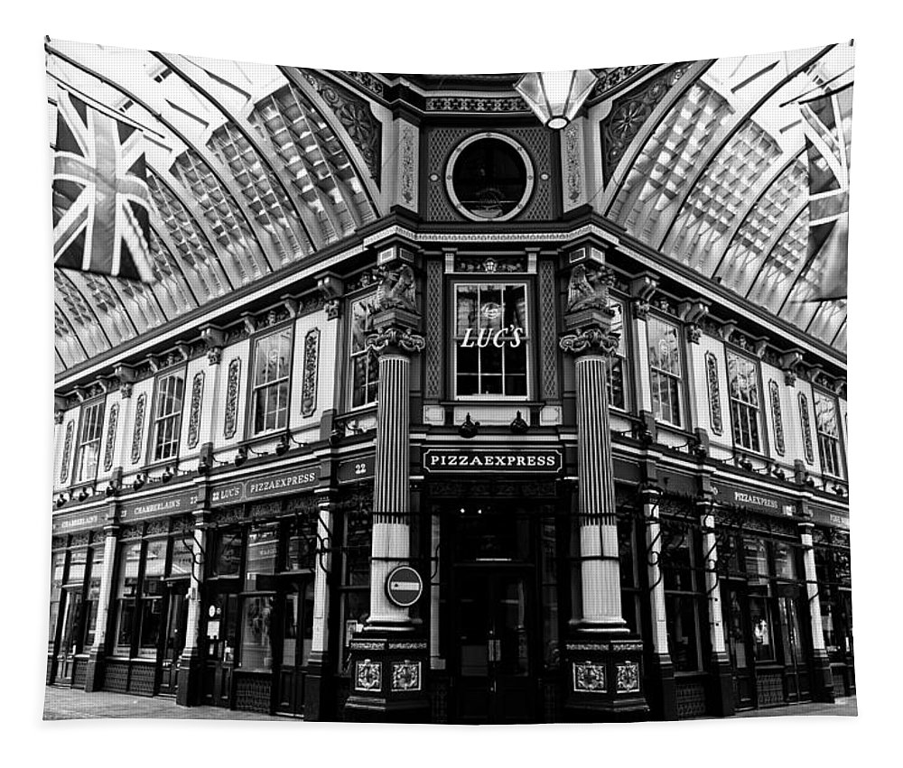 Leadenhall Market Tapestry featuring the photograph Leadenhall Market London by David Pyatt