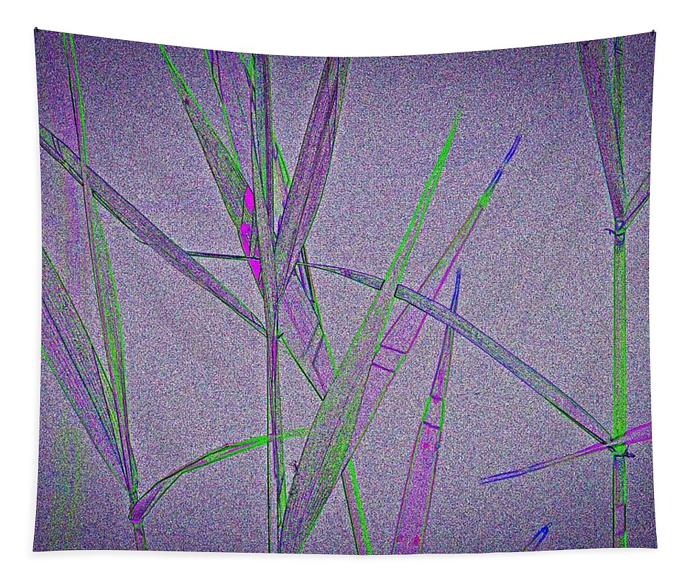 Monet Tapestry featuring the digital art Water Reed Digital Art by David Pyatt