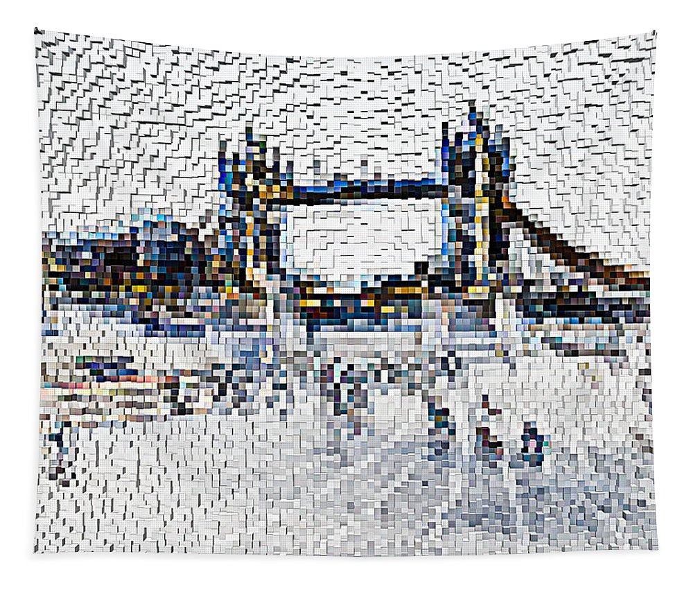 Tower Tapestry featuring the digital art Southbank London Art by David Pyatt