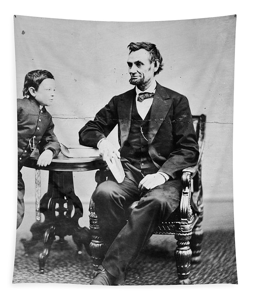1865 Tapestry featuring the photograph Abraham Lincoln by Granger