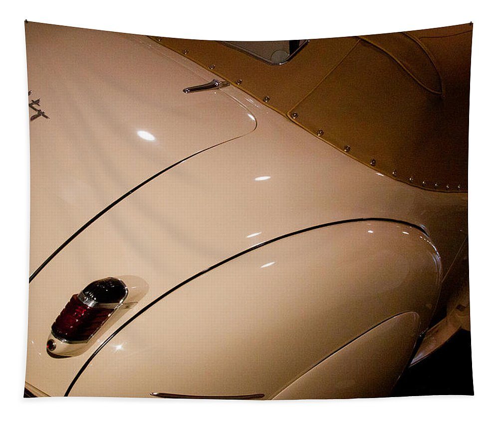 41 Tapestry featuring the photograph 1941 Packard Darrin Victoria Convertible by David Patterson