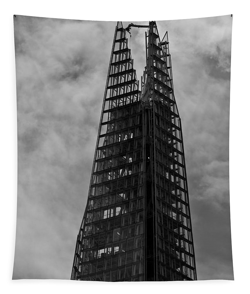 The Shard Tapestry featuring the photograph The Shard by David Pyatt