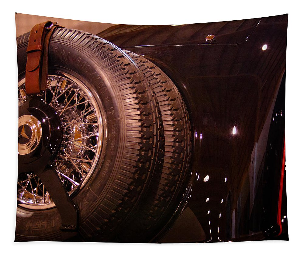 33 Tapestry featuring the photograph 1933 Mercedes-benz 380 Ss Roadster Erdmann And Rossi by David Patterson