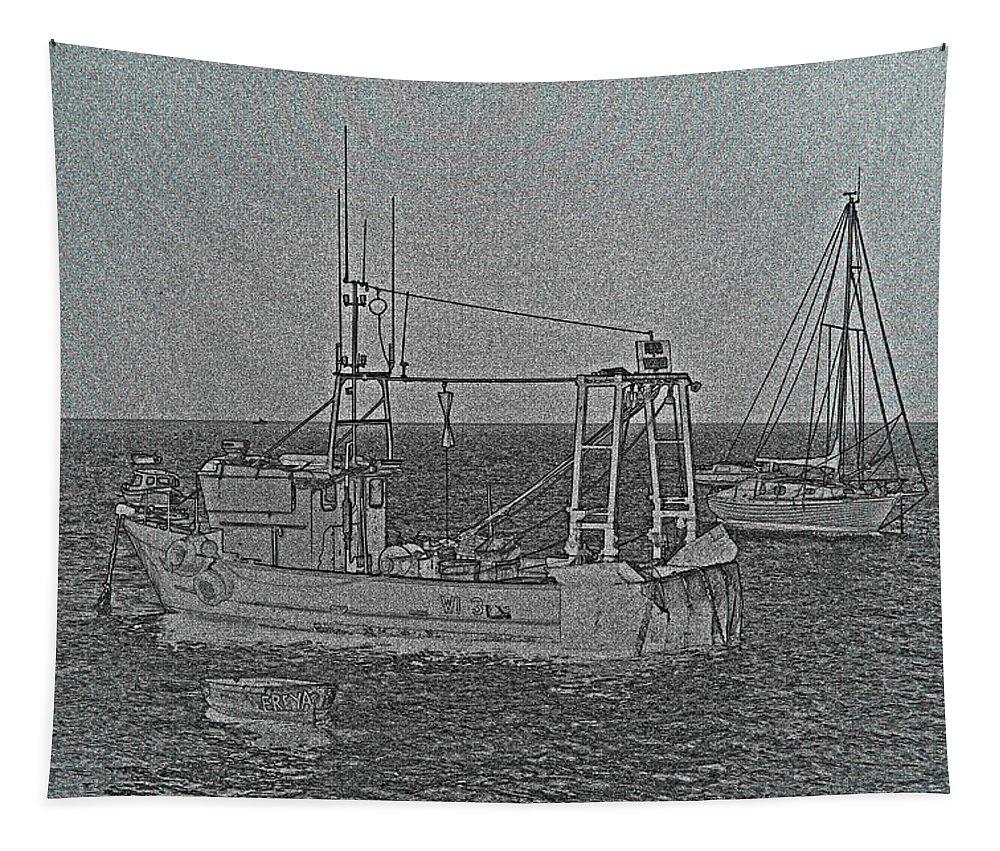 Fishing Boats Tapestry featuring the photograph Fishing Boats Art by David Pyatt