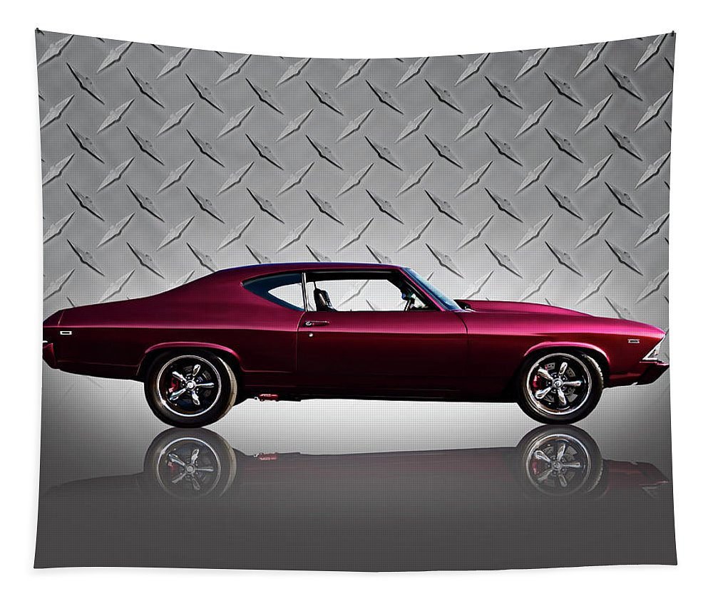 Classic Tapestry featuring the digital art '69 Chevelle by Douglas Pittman