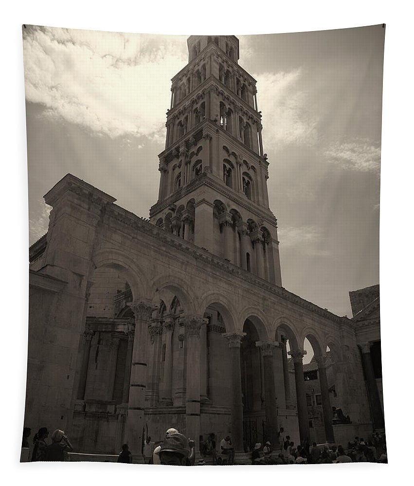 2012 Tapestry featuring the photograph Split Old Town by Jouko Lehto