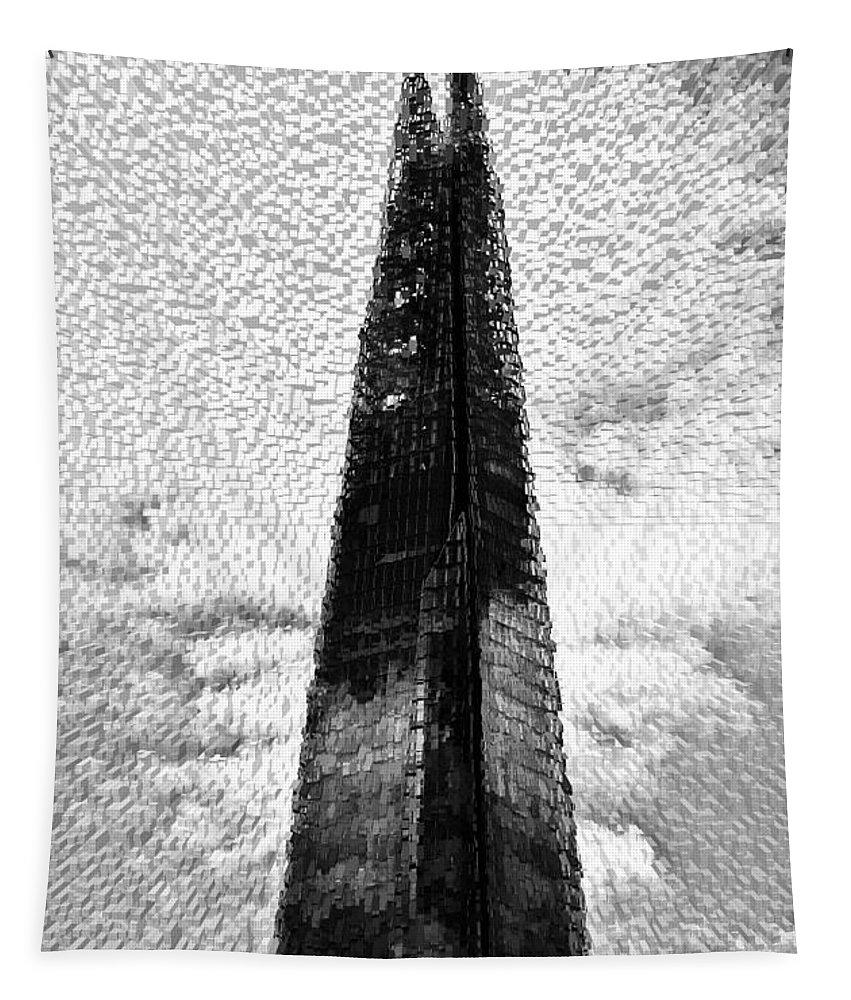 Shard Tapestry featuring the digital art The Shard by David Pyatt