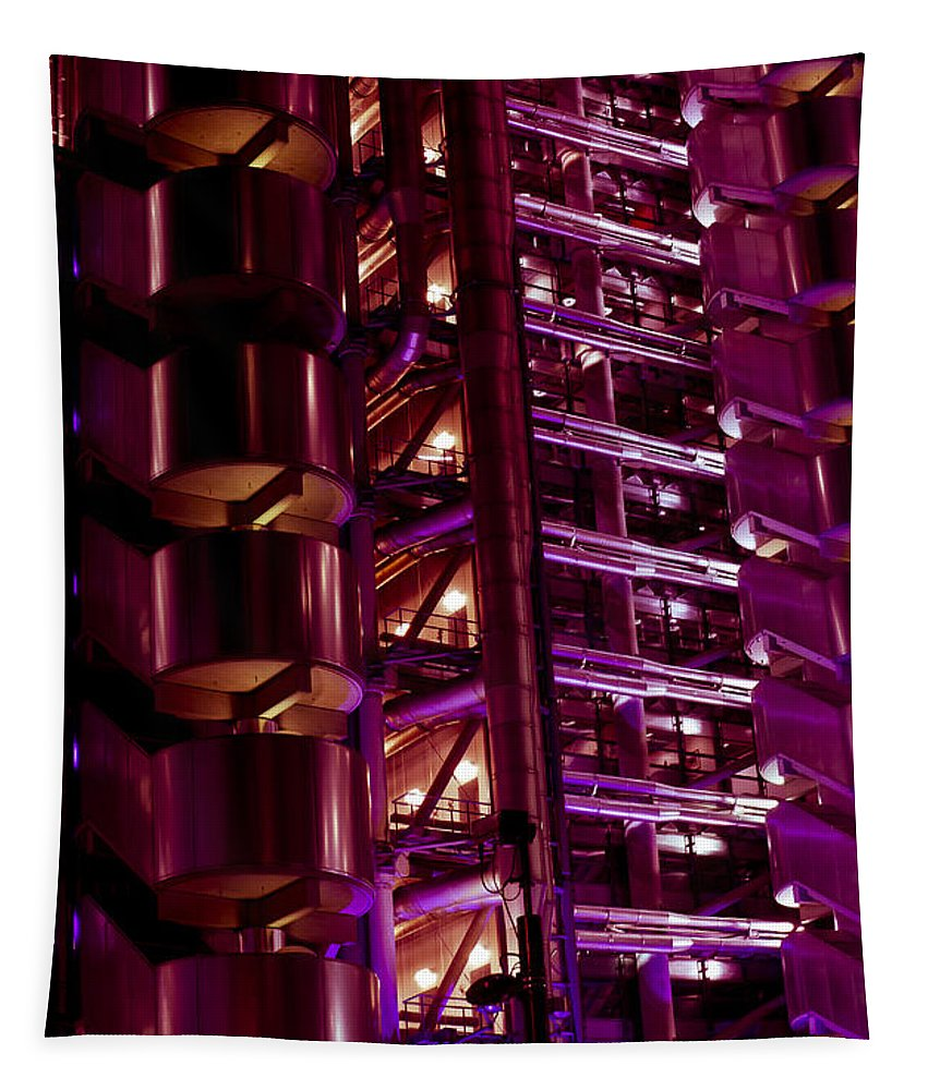 Lloyd's Tapestry featuring the photograph Lloyd's Building London by David Pyatt