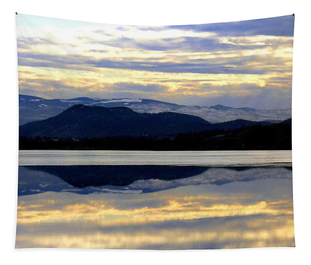 Wood Lake Tapestry featuring the photograph A Calm Winter Afternoon by Will Borden