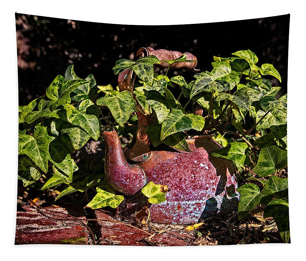 Tea Kettle Tapestry featuring the photograph A Kettle Of Greens by Christopher Holmes