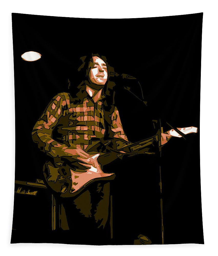 Rock Musicians Tapestry featuring the photograph A Million Blue Miles Away 3 by Ben Upham
