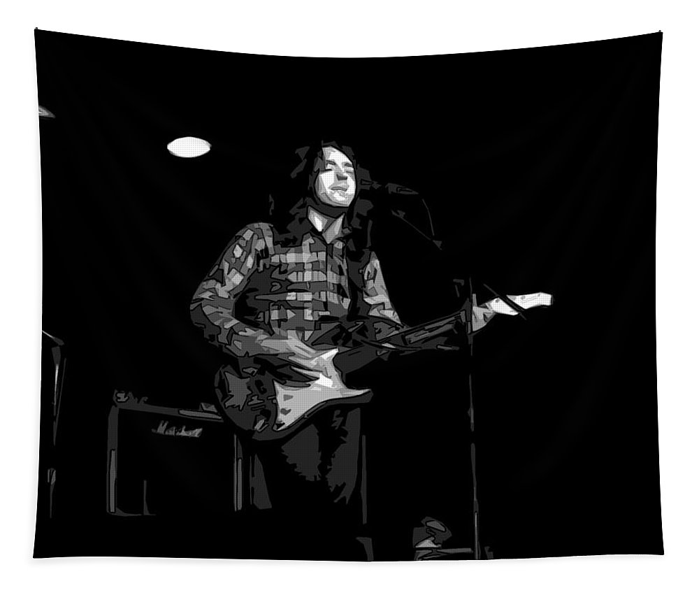 Rock Musicians Tapestry featuring the photograph A Million Miles Away by Ben Upham