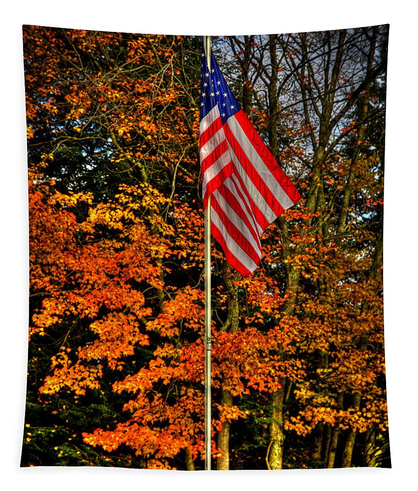 Autumn Tapestry featuring the photograph A Patriotic Autumn by David Patterson